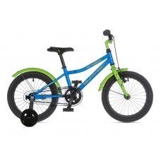 "Велосипед AUTHOR (2021) Stylo II 16"", рама 9"", цвет-матовый тёмно серый // зелёный"