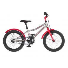"""Велосипед AUTHOR (2021) Orbit 16"""", рама 9"""", цвет-серебристый // красный"""