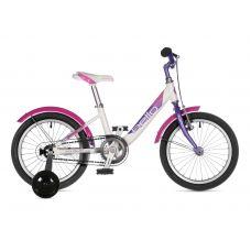 """Велосипед AUTHOR (2021) Bello II 16"""", рама 9"""", цвет-белый // фиолетовый"""