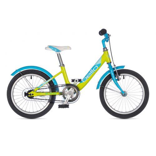 """Велосипед AUTHOR (2021) Bello 16"""", рама 9"""", цвет-салатовый // голубой"""