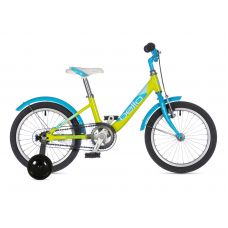 "Велосипед AUTHOR (2021) Bello II 16"", рама 9"", цвет-салатовый // голубой"