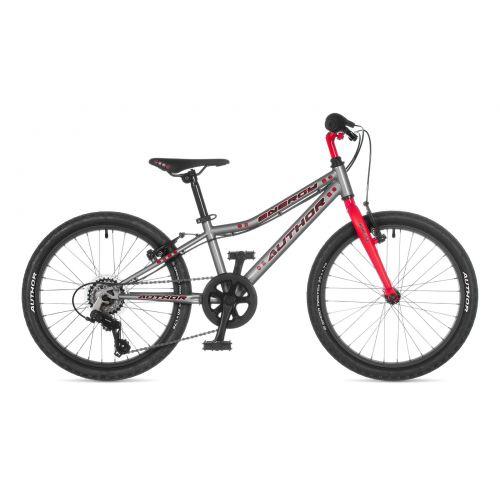 """Велосипед AUTHOR (2021) Energy 20"""", рама 10"""", цвет-серый // красный"""