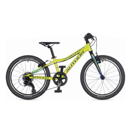 """Велосипед AUTHOR (2021) Record 20"""", рама 10"""", цвет-салатовый // голубой"""