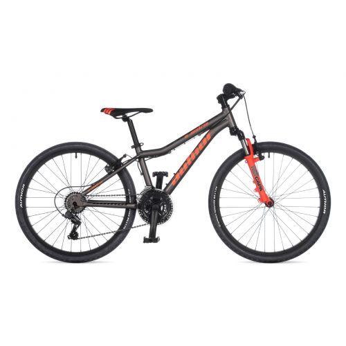 """Велосипед AUTHOR (2021) A-Matrix 24"""", рама 12,5"""", цвет-серебристый // неоново оранжевый"""