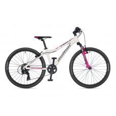 """Велосипед AUTHOR (2021) A-Matrix SL 24"""", рама 12,5"""", цвет-белый // розовый"""