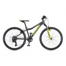 """Велосипед AUTHOR (2021) A-Matrix SL 24"""", рама 12,5"""", цвет-тёмно серый // салатовый"""
