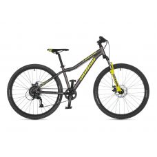 """Велосипед AUTHOR (2021) A-Matrix 26"""" D, рама 13,5"""", цвет-серый // неоново жёлтый"""
