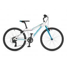 """Велосипед AUTHOR (2021) Ultima 24"""", рама 12,5"""", цвет-белый // голубой"""