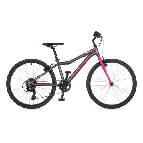 """Велосипед AUTHOR (2021) Ultima 24"""", рама 12,5"""", цвет-серый // розовый"""