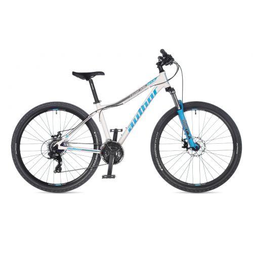 """Велосипед AUTHOR (2021) Rival ASL 27.5"""", рама 16"""", цвет-белый (серебристый) // голубой"""