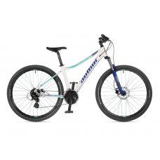 """Велосипед AUTHOR (2021) Impulse ASL 27.5"""", рама 18"""", цвет-белый (серебристый) // голубой"""