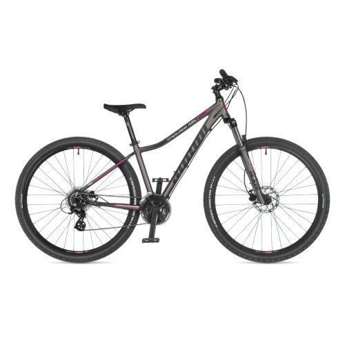 """Велосипед AUTHOR (2021) Impulse ASL 29"""", рама 18"""", цвет-серебристый (розовый) // серебристый"""