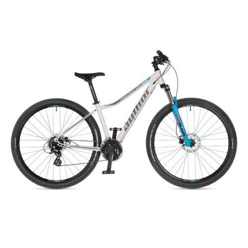 """Велосипед AUTHOR (2021) Impulse ASL 29"""", рама 16"""", цвет-белый (серебристый) // голубой"""