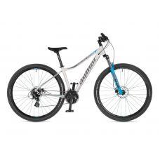 """Велосипед AUTHOR (2021) Impulse ASL 29"""", рама 18"""", цвет-белый (серебристый) // голубой"""
