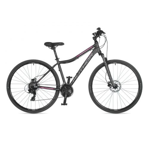 "Велосипед AUTHOR (2021) Horizon ASL 28"", рама 15"", цвет-серый (розовый) // серый"