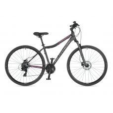 "Велосипед AUTHOR (2021) Horizon ASL 28"", рама 17"", цвет-серый (розовый) // серый"
