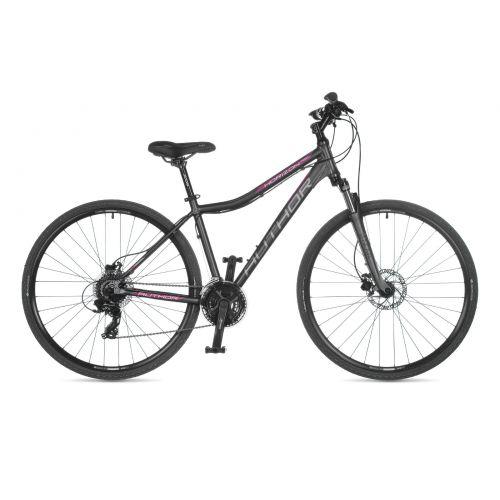 "Велосипед AUTHOR (2021) Horizon ASL 28"", рама 19"", цвет-серый (розовый) // серый"