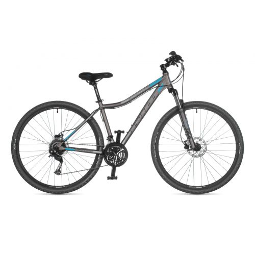 """Велосипед AUTHOR (2021) Vertigo ASL 29"""", рама 19"""", цвет-серебристый (голубой) // серебристый"""