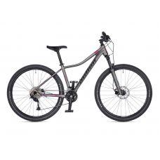 """Велосипед AUTHOR (2021) Spirit ASL 27,5"""", рама 14"""", цвет-серебристый (чёрно-розовый) // серебристый"""