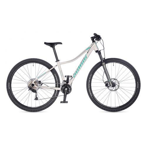 """Велосипед AUTHOR (2021) Spirit ASL 29"""", рама 16"""", цвет-белый (голубой-серебристый) // серебристый"""
