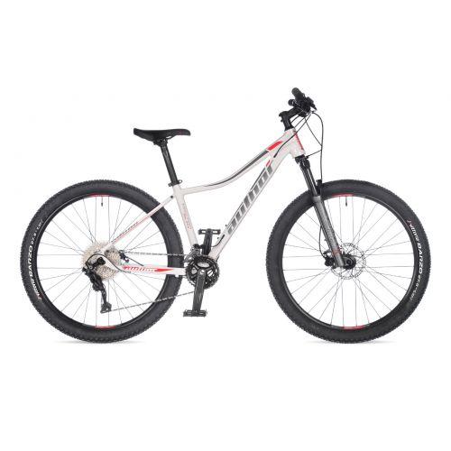 """Велосипед AUTHOR (2021) Traction ASL 27,5"""", рама 16"""", цвет-белый (серебристо-красный) // серебристый"""