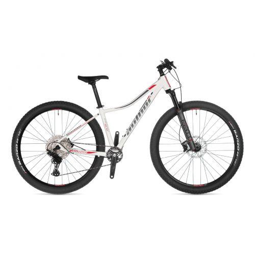 """Велосипед AUTHOR (2021) Instinct ASL 29"""", рама 18"""", цвет-белый (серебристо-красный) // серебристый"""