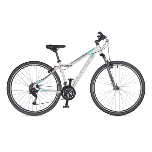 "Велосипед AUTHOR (2021) Stratos ASL 29"", рама 15"", цвет-белый (серебристо-ментоловый) // серебристый"
