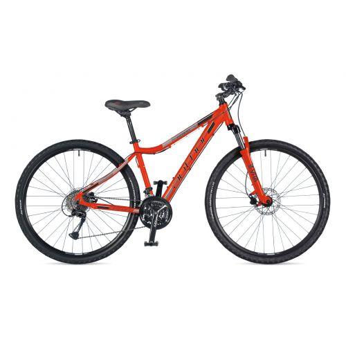 """Велосипед AUTHOR (2021) Stratos ASL 29"""", рама 17"""", цвет-оранжевый (серебристо-черный) // оранжевый"""