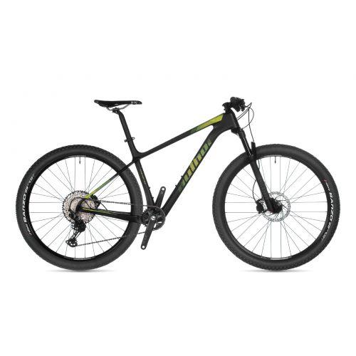 """Велосипед AUTHOR (2021) Master 29"""", рама 19"""", цвет-карбон (зелёный) // черный"""