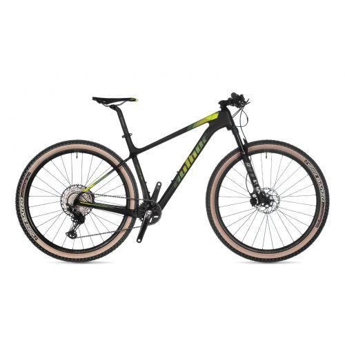 """Велосипед AUTHOR (2021) Magnum 29"""", рама 19"""", цвет-карбон (неоново жёлтый) // черный"""