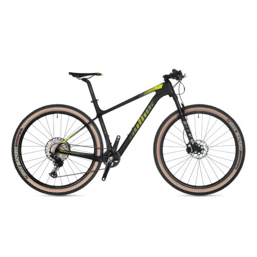 """Велосипед AUTHOR (2021) Magnum 29"""", рама 21"""", цвет-карбон (неоново жёлтый) // черный"""