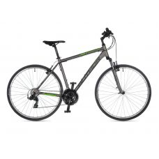 "Велосипед AUTHOR (2021) Compact 28"", рама 20"", цвет-серебристый (зелёный) // серебристый"