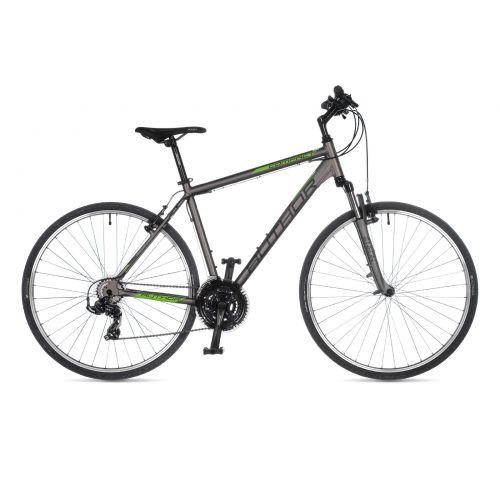 "Велосипед AUTHOR (2021) Compact 28"", рама 18"", цвет-серебристый (зелёный) // серебристый"