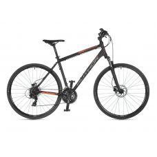 """Велосипед AUTHOR (2021) Horizon 28"""", рама 22"""", цвет-чёрный (неоново оранжевый) // чёрный"""