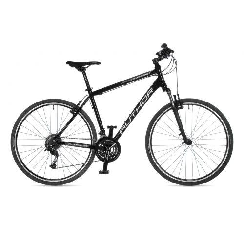 """Велосипед AUTHOR (2021) Classic 28"""", рама 20"""", цвет-чёрный (белый) // чёрный"""
