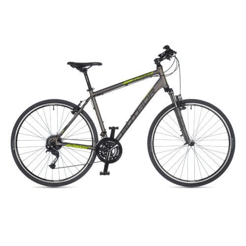 "Велосипед AUTHOR (2021) Classic 28"", рама 20"", цвет-серебристый (лимонний) / /серебристый"