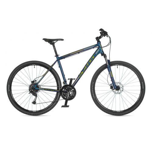 """Велосипед AUTHOR (2021) Vertigo 29"""", рама 16"""", цвет-темно синий (лимонний) // синий"""