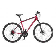 """Велосипед AUTHOR (2021) Vertigo 29"""", рама 20"""", цвет-красный (серебристый) // чёрный"""