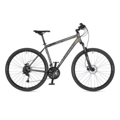 """Велосипед AUTHOR (2021) Vertigo 29"""", рама 22"""", цвет-серебристый (зелёный) // чёрный"""