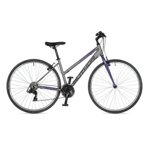 """Велосипед AUTHOR (2021) Thema 28"""", рама 17"""", цвет-серебристый // фиолетовый"""