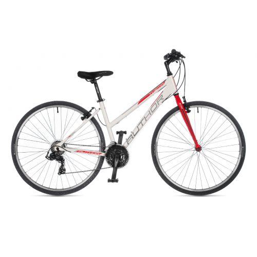 """Велосипед AUTHOR (2021) Thema 28"""", рама 19"""", цвет-белый // красный"""