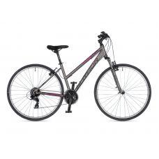 """Велосипед AUTHOR (2021) Linea 28"""", рама 17"""", цвет-серебристый (розовый) // серебристый"""