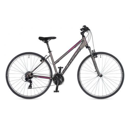 """Велосипед AUTHOR (2021) Linea 28"""", рама 19"""", цвет-серебристый (розовый) // серебристый"""