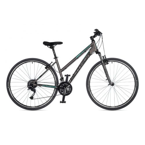 """Велосипед AUTHOR (2021) Integra 28"""", рама 19"""", цвет-серебристый (ментоловый) // серебристый"""