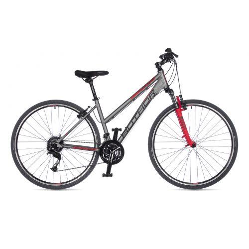 """Велосипед AUTHOR (2021) Integra 28"""", рама 17"""", цвет-серебристый // красный"""