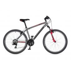 """Велосипед AUTHOR (2021) Outset 26"""", рама 17"""", цвет-серебристый // красный"""