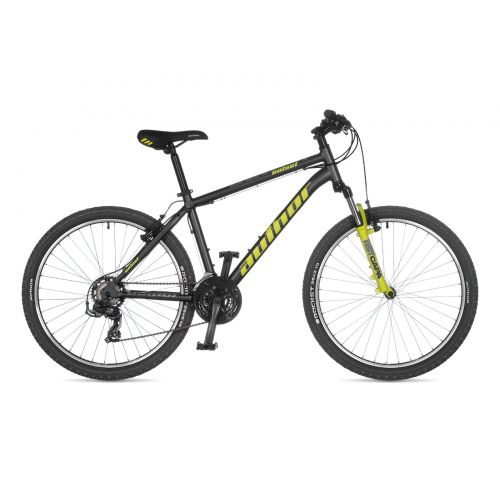 "Велосипед AUTHOR (2021) Outset 26"", рама 19"", цвет-серый // неоново желтый"