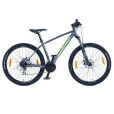 """Велосипед AUTHOR (2021) Rival II 27.5"""", рама 19"""", цвет-серый (зелёный) // серый"""