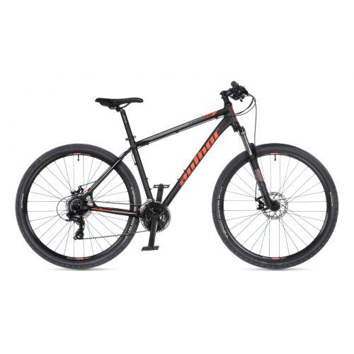 """Велосипед AUTHOR (2021) Rival 29"""", рама 21"""", цвет-чёрный (оранжевый) // черный"""