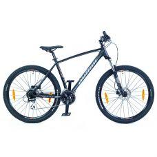 """Велосипед AUTHOR (2021) Impulse II 27.5"""", рама 17"""", цвет-черный (серебристый) // черный"""